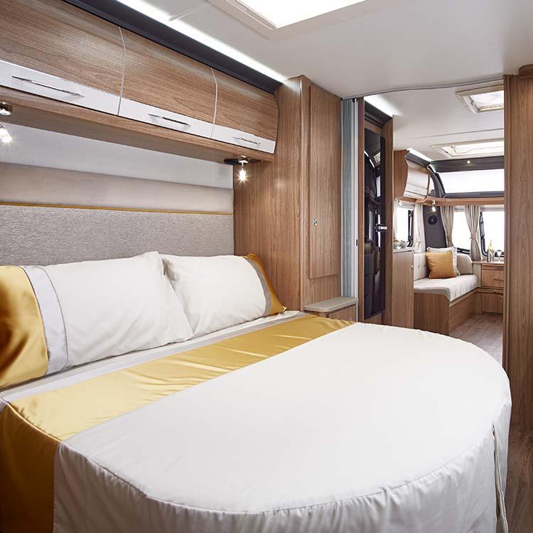 Mattresses and divans for motor homes, caravans and lodges